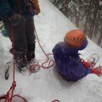 雪山レスキュー訓練